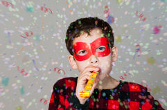 Celebrating boy Stock Images