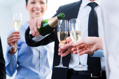 Celebrating business success. Royalty Free Stock Images