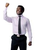 Celebrating businessman Stock Photos