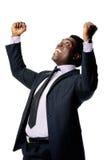 Celebrating businessman Stock Images