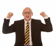 Celebrating businessman Royalty Free Stock Photo