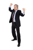 Celebrating businessman Stock Image