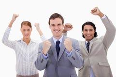 Celebrating businessteam Stock Image