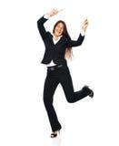 Celebrating businesswoman dancing Stock Photography