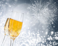 Celebrating with champagne Royalty Free Stock Image