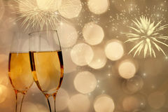 Celebrating with champagne Stock Photography