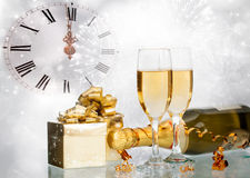 Celebrating with champagne Stock Image