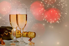 Celebrating with champagne Royalty Free Stock Photography