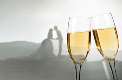Celebrating with champagne Stock Photos