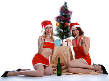 Celebrating Christmas Stock Images