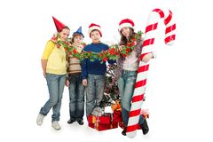 Celebrating christmas stock photo