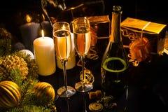 Celebrating Christmas Eve Stock Photo