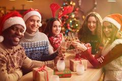 Celebrating Christmas Stock Images