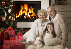 Celebrating Christmas holidays Stock Photo