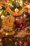 celebrating christmas new year στοκ εικόνα με δικαίωμα ελεύθερης χρήσης