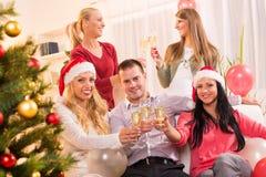 Celebrating Christmas or New Year Royalty Free Stock Image