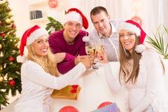 Celebrating Christmas or New Year Stock Photo