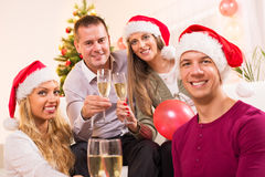 Celebrating Christmas or New Year Stock Images