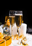 Celebrating Christmas and the New Year Royalty Free Stock Image