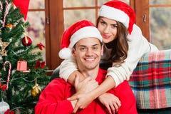Celebrating Christmas together. Royalty Free Stock Photo