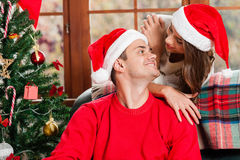 Celebrating Christmas together. Stock Image