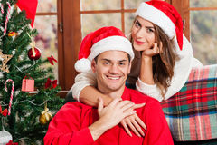 Celebrating Christmas together. Royalty Free Stock Photos