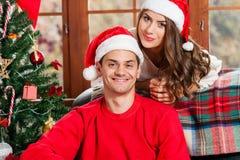 Celebrating Christmas together. Stock Photo