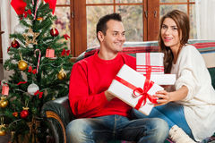 Celebrating Christmas together. Stock Photography