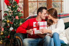 Celebrating Christmas together. Stock Images