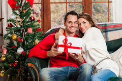 Celebrating Christmas together. Royalty Free Stock Photography