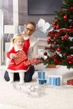 Celebrating Christmas Stock Image
