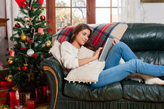 Celebrating Christmas Royalty Free Stock Photography