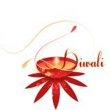 Celebrating Colourful Diwali Graphic Royalty Free Stock Image