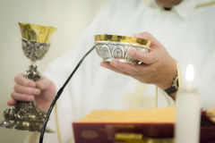 Celebrating the Communion Stock Photos