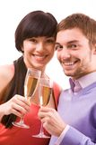 Celebrating couple Stock Image