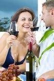 Celebrating couple Royalty Free Stock Images
