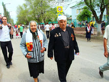 Celebrating of Day of the Great Victory in Russia. Celebrating of 65th anniversary of the Great Victory over fascist Germany in the town Kalatch-on-Donu of the Stock Photography