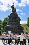 Celebrating the Day of Russia in Novgorod Kremlin Royalty Free Stock Images