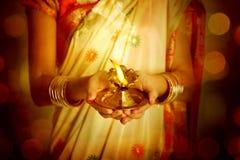 Celebrating Diwali Royalty Free Stock Image