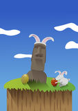 Celebrating Easter in Easter Island Stock Photos