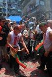 Celebrating Feast of the Drunken Dragon Stock Photo