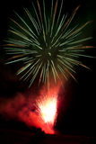 Celebrating with fireworks Royalty Free Stock Photos
