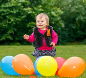 Celebrating first birthday Stock Photos
