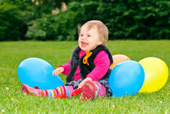 Celebrating first birthday Stock Images