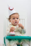 Celebrating First Birthday Royalty Free Stock Photo