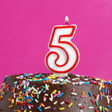 Celebrating Five Years Stock Photo