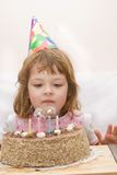 Celebrating fourth birthday Royalty Free Stock Photography