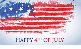Celebrating the Fourth Of July. Independence day July 4th vector illustration