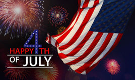 Celebrating the Fourth Of July. Independence day July 4th Royalty Free Stock Image