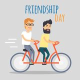 Friends Celebrating Friendship Day Vector Concept Stock Images